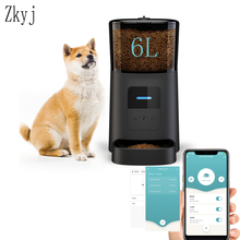 6L Large Capacity Intelligent Wifi Automatic Pet Feeder for Cats Dogs Smart Food Dispenser Remote Control APP Timer Pet Feeding
