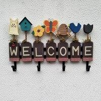 welcome creative house number Wall Hanger Coat Hat Hook Rack Key Holder Children Kids Baby Girl Boy Room Nursery modern ornament