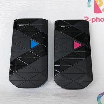 """Teléfono móvil Original NOKIA 7070 2G GSM desbloqueado Flip 1,8 """"Triband reacondicionado"""
