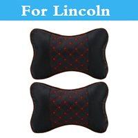 2 uds almohada de cuero Pp de algodón para reposacabezas de coche  cojín de reposacabezas para Lincoln Mkc Mks Mkt Mkz Navigator Town Car Aviator Ls