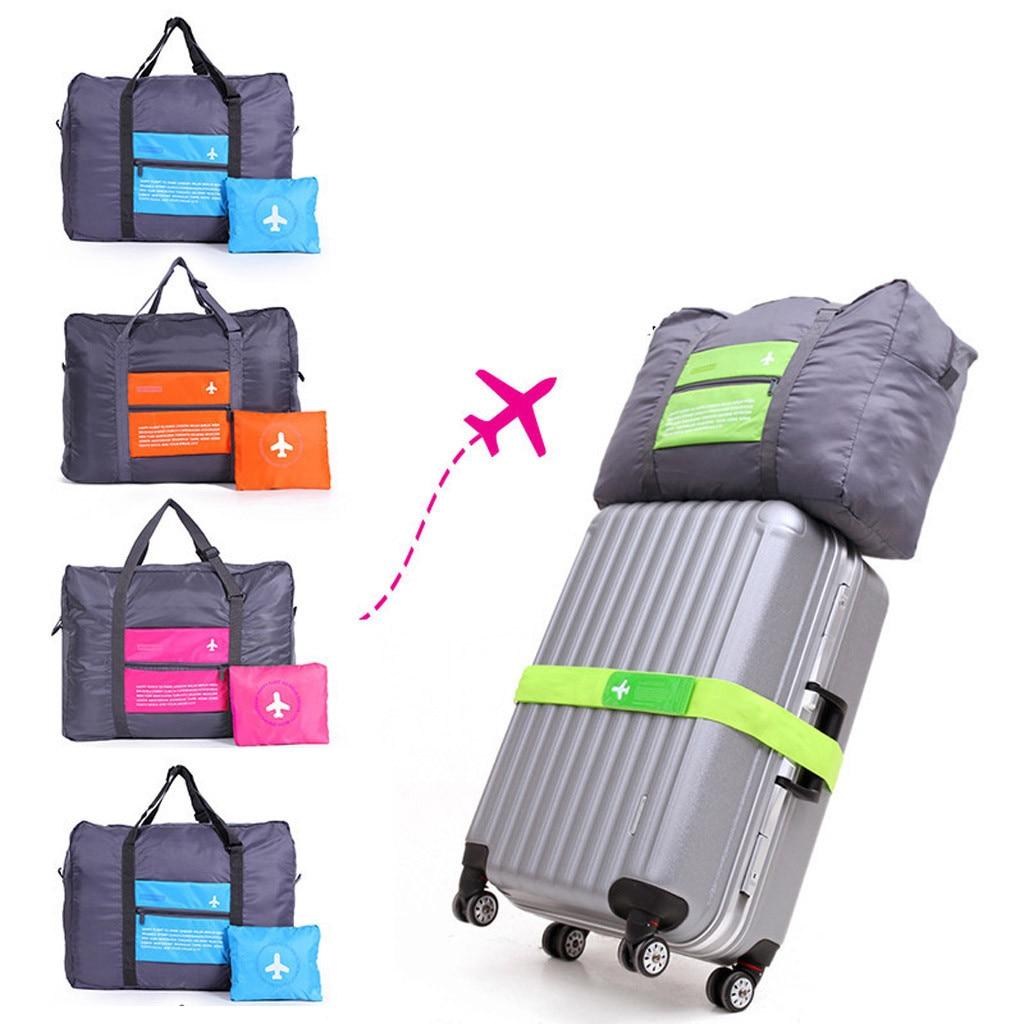 Waterproof Nylon Travel Bags Women Men Airport Large Capacity Folding Duffle Bag Organizer Packing Luggage Weekend Bag Travel