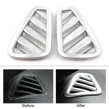 2Pcs Car Styling Upper AC Air Vent Outlet ABS Sliver Cover for Mercedes Benz A-Class W177 2019 A200 A220 A250 5-Door Only image