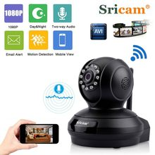 Original Sricam SP019 FHD1080P Wireless IP Camera H.264 High Resolution Support P2P CCTV WiFi Home Security IP PTZ Camera(China)