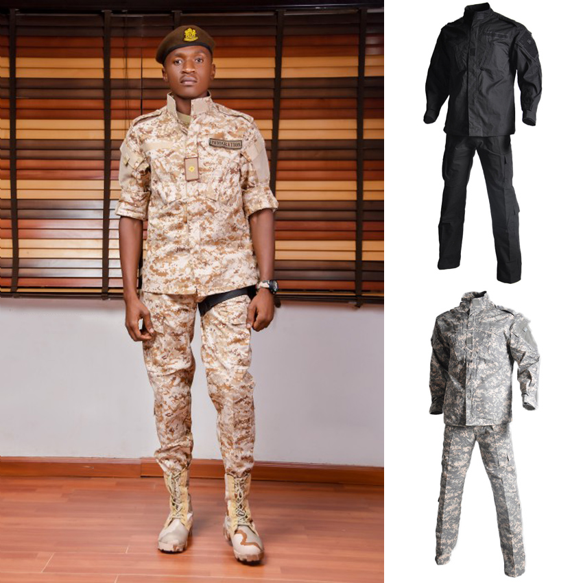 WW2 US Army Military Uniform For Male Soldier Tactical Army Suit Camlouflage Multicam Combat Jacket+trousers Desert Clothing Set