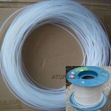 F4 10M tubo de Ptfe Tubulação Rígida 260Deg. C Alta Temperatura ID 0.3mm/0.4mm/0.5mm/0.6mm/0.7mm/0.8mm/0.9mm/1mm de Diâmetro Interno