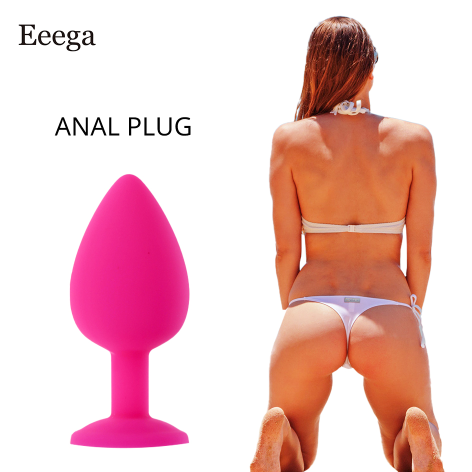 Safe Silicone Dildo Butt Plug Anal Plugs Sex Stopper Toy 3 Different Size Adult Sex Toys For Women Trainer Massager