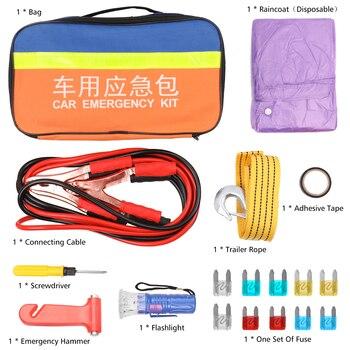 Portable Lightweight Set Use Rescue Vehicle 9PCS Fuse Emergency Hammer Trailer Rope Car Emergency Kit