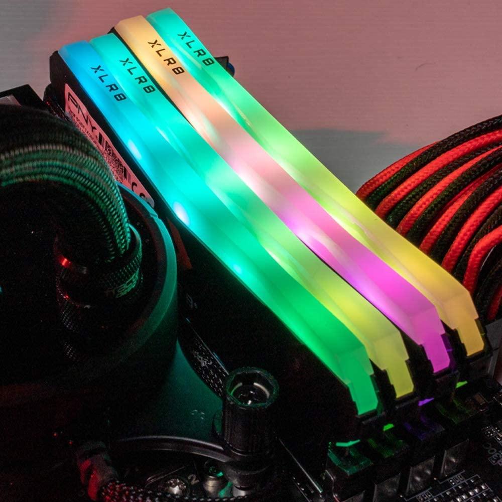 PNY DDR4 RAM 8GB 16GB XLR8 Gaming Epic-X RGB  3200MHz Desktop Memory CAS Latency of 16, 1.35 Volts supports Intel XMP 2.0 6