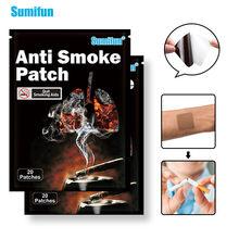Sumifun 20/40 sztuk naturalny składnik Anti Smoke Patch zatrzymać rzucić palenie zaprzestania chiński ziołowy Plaster opatrunkowy opieki zdrowotnej