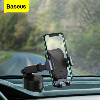 Baseus Gravity Car Phone Holder Stand For Xiaomi redmi note Telephone Mobile Cell Phone Holder for iPhone 11 12 pro 8 7 Samsung