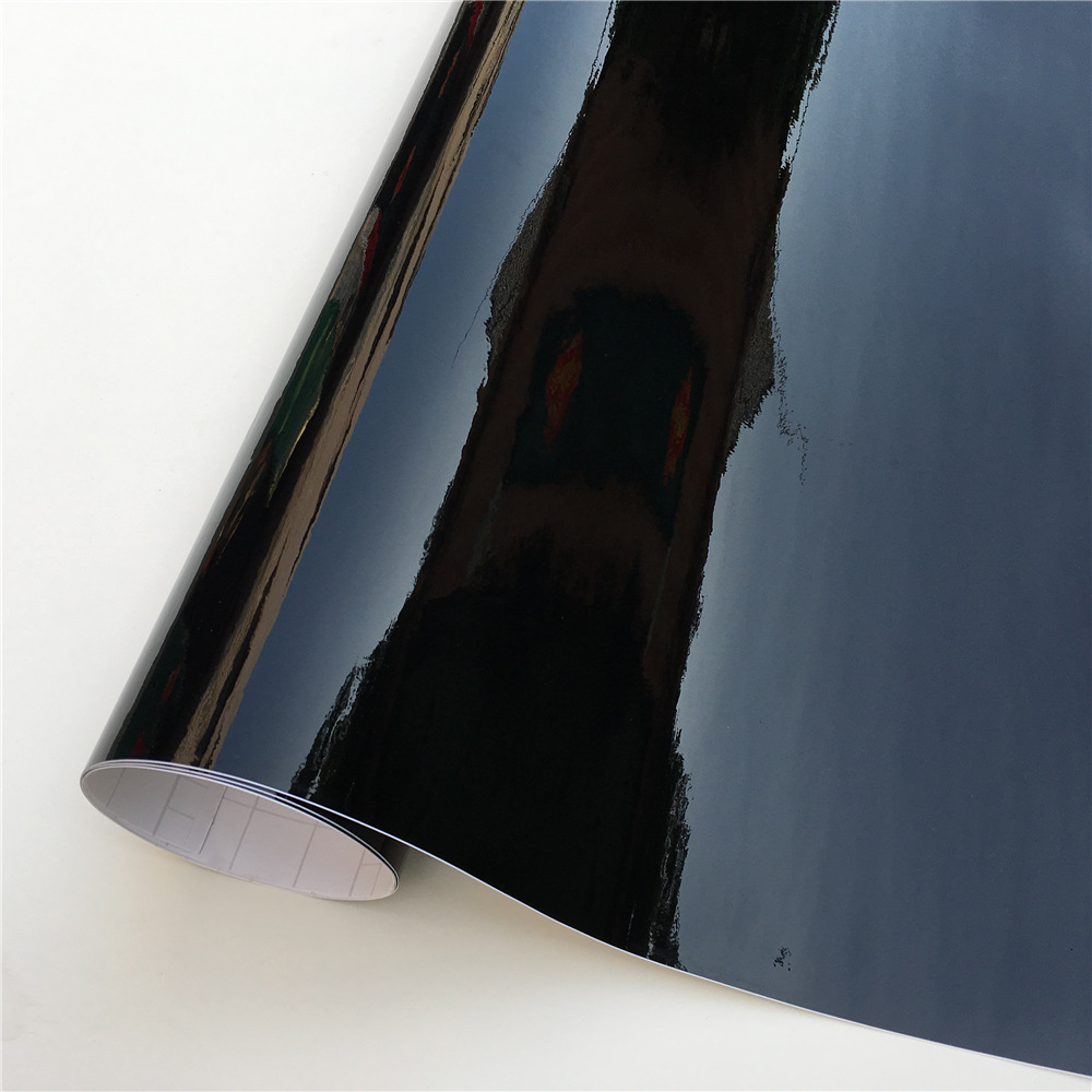 Ultra Gloss Piano Black Vinyl Wrap Film Sticker Glossy Black Self Adhesive Vinyl Bubble Free Console Computer Laptop Skin