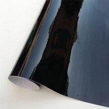 Ultra Gloss Piano Black Vinyl Wrap Film Sticker Glossy Black Self Adhesive Vinyl Bubble Free Console Computer Laptop Skin