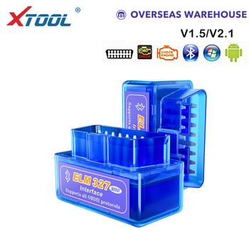 XTOOL 2019 Bluetooth V1 5 V2 1 Mini Elm327 skaner obd2 OBD narzędzie diagnostyczne do samochodów czytnik kodów dla androida Windows Symbian angielski tanie i dobre opinie Latest Czytniki kodów i skanowania narzędzia Guangdong China (Mainland) V1 5 and V2 1 one board Standard Perfect and convenient