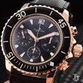 Luxus Marke Neue Männer Edelstahl Automatische Mechanische Flyback Nylon Leder ETA 7750 Begrenzte Uhr Silber Rose Gold AAA +