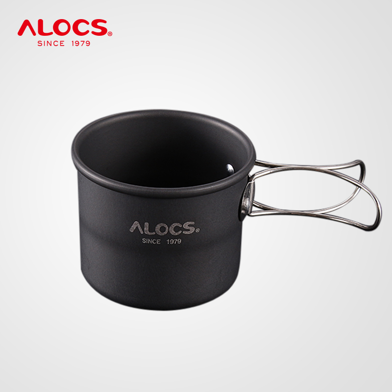 Alocs TW-402 Portable Mini 150ml Camping Water Cup Mug Coffee Cup Teacup Tumbler Folding Handle For Travel Hiking Backpacking