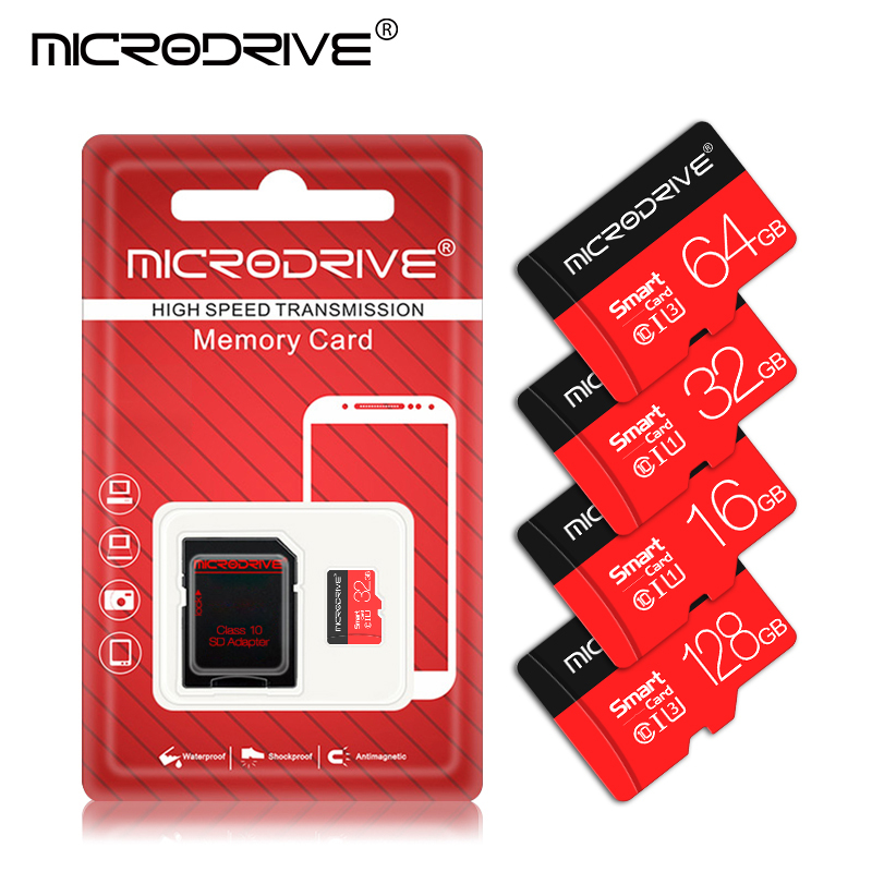 Высокоскоростная карта памяти Micro SD класса 10, 16 ГБ, 32 ГБ, 64 ГБ, 128 ГБ, карта памяти 64 ГБ, TF флеш-карта