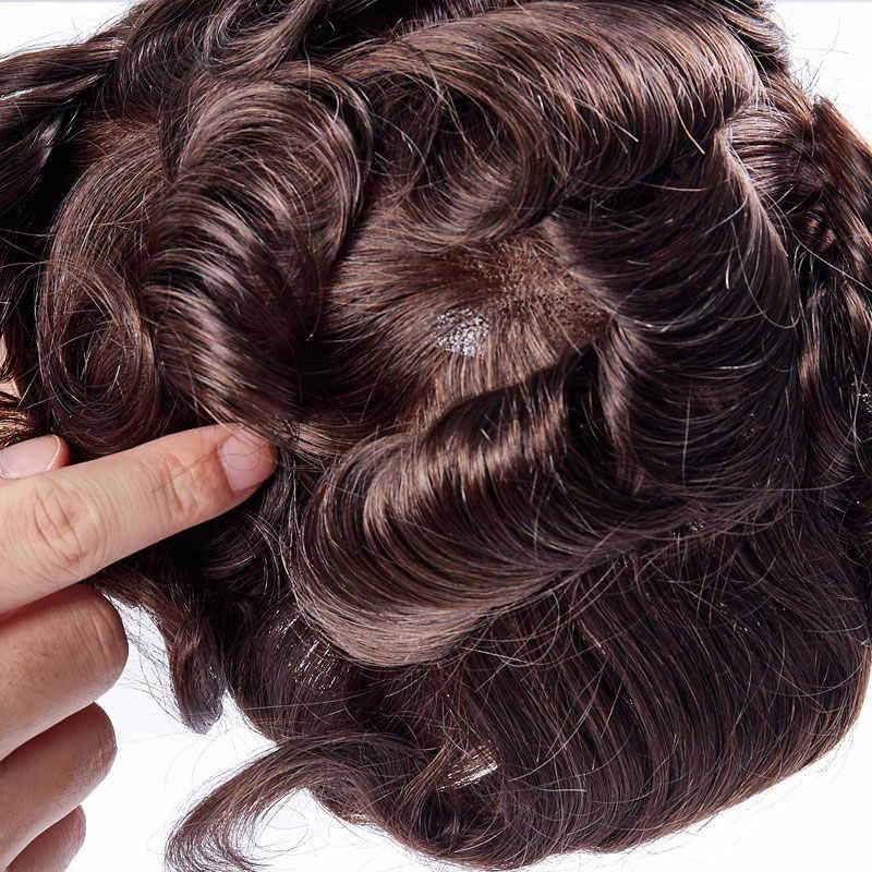 Tam dantel erkek peruk Remy hint saç değiştirme sistemi 8x10 inç insan fransız dantel süper saç parçaları peruk el yapımı