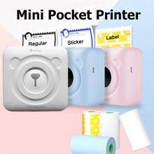 Peripage a6 мини принтер с bluetooth 58 мм для android ios наклейка