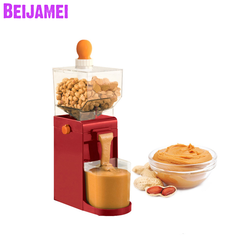 BEIJAMEI Household Peanut Butter Machine Paste Jam Cashew Nuts, Almonds, Hazelnuts Grinder For Food