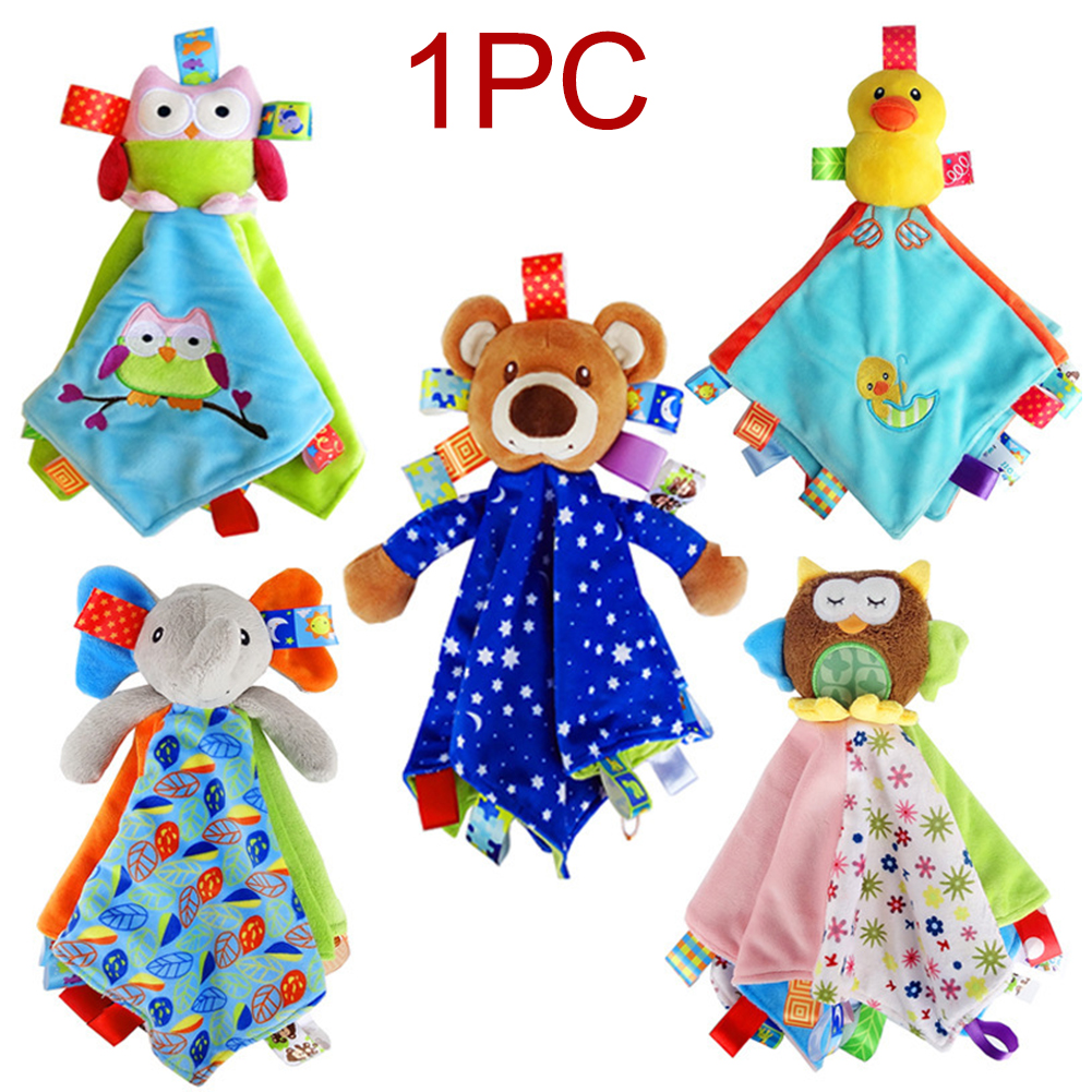 Home Eco Friendly Easy Install Hanging Plush Toy Early Education Sleep Cartoon Appease Towel Anti Fade Cute Bed Baby Rattle
