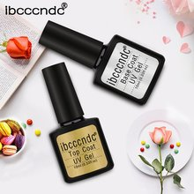 Non Cleansing Topcoat Nail Art 10ml Soak off Base Coat Foundation without Sticky Layer No Wipe Top Coat Long Lasting Nail Gel