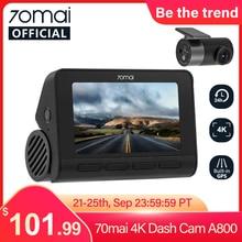 70mai Smart Dash Cam 4K A800 Built-in GPS ADAS 70mai Real 4K Car DVR UHD Cinema-quality Image 24H Parking SONY IMX415 140FOV(China)