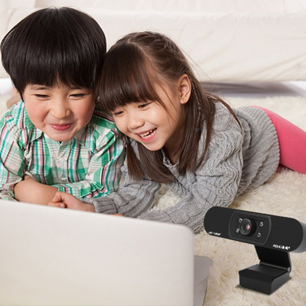 HD 1080P USB Webcam with Autofocus and 5 Layer Optical Lens for Desktop/Laptop 10