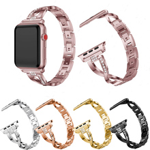 цена на Diamond Strap For Apple Watch Band 42mm/38mm iWatch Series 3 2 1 Stainless Steel Wrist Watchband Strap Bracelet Belt