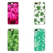 Padrão de folha de cannabis para apple iphone 4 4S 5 5c 5S se se2020 6s 7 8 11 plus pro x xs max xr macio novo estilo original(China)
