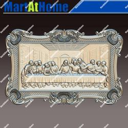 3D STL Model Da Vinci's Last Supper for CNC Router Engraving & 3D Printing Relief Support ZBrush Artcam Aspire Cut3d