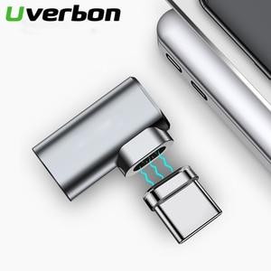 Image 1 - 87W 4.3A manyetik USB C adaptörü için MacBook Pro 90 dirsek USB tip C şarj konektörü Samsung USB adaptörü USB C şarj
