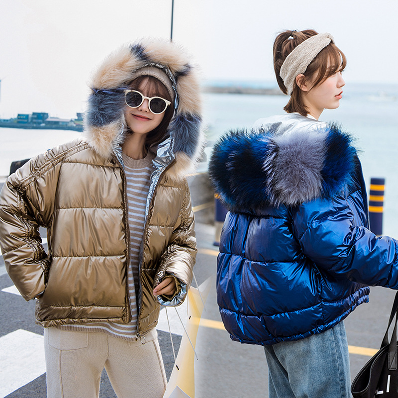 Cotton-padded Clothes Women's Short 2019 Winter New Style Korean-style Hooded Cotton Jacket Women's Loose-Fit Down Jacket Cotton
