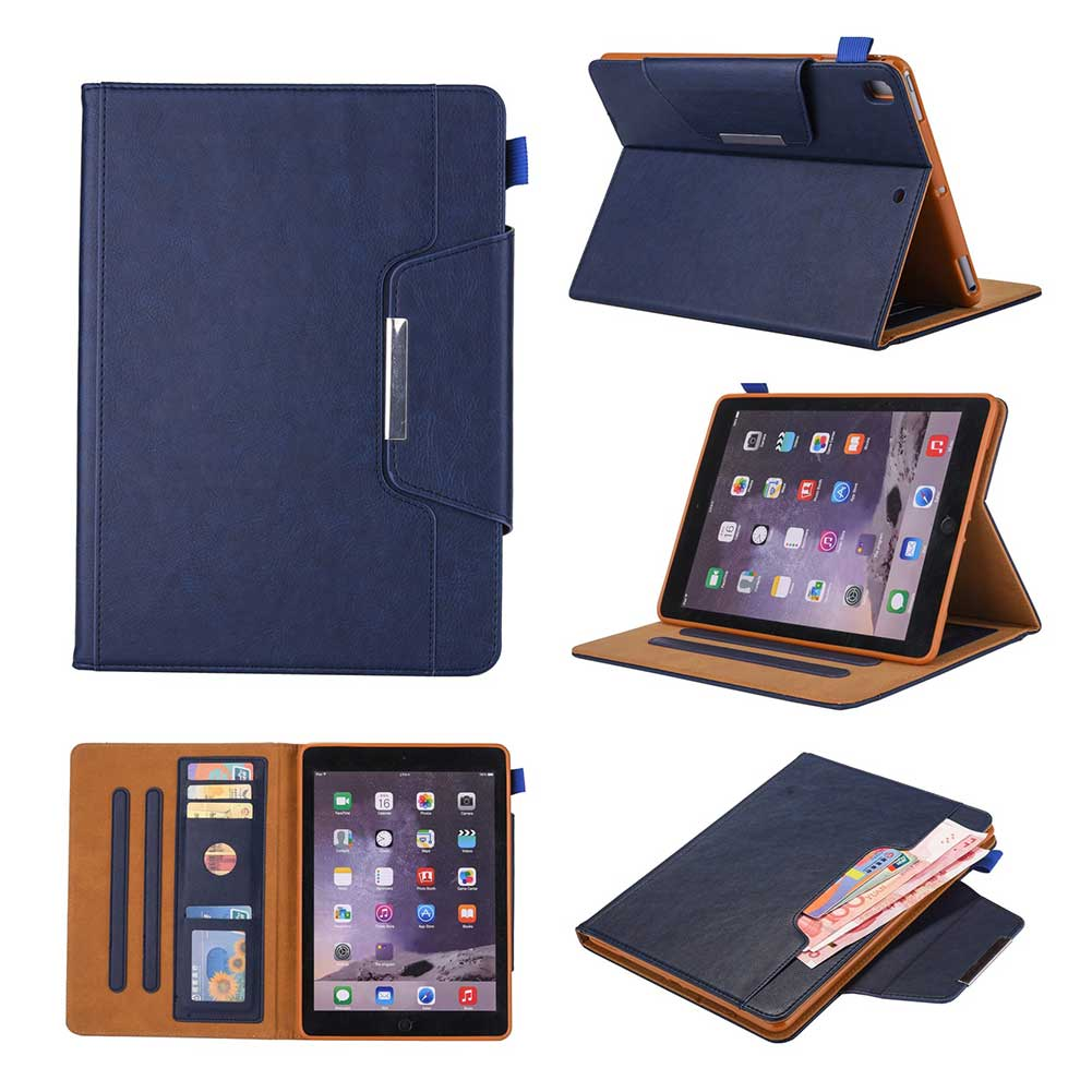 Blue White Leather Case For Apple iPad 10 2 2019 7 7th Generation A2197 A2200 A2198 A2232 Cover