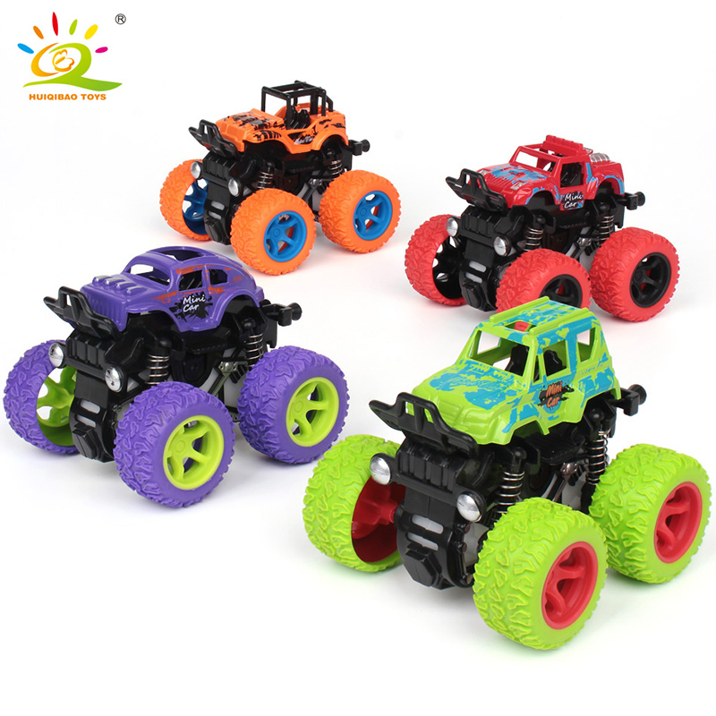 1pcs Small Model Pull Back Cars Fast Big Tire Wheel car Vehicles Trucks Boys Gift Toys for Children Play with Friends image