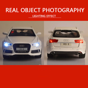 132 Модель автомобиля Audi RS6, литая Игрушечная модель автомобиля из сплава, детские игрушки, коллекционные игрушки, бесплатная доставка