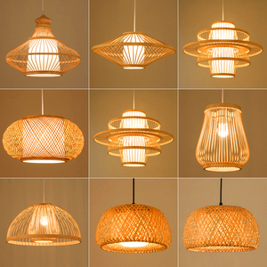 Image 5 - Chinese style Bamboo pendant lights Lighting Garden Restaurant kitchen pendant lamp Hotel Farm Teahouse Lantern Tatami Hanglamp