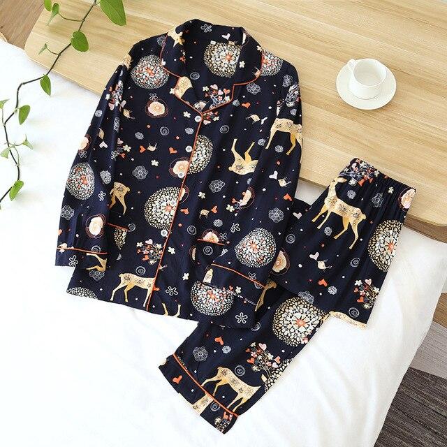 pajamas suit simple style long 3