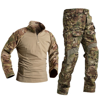 Combat  Clothes Suit Tactical Camouflage Military Uniform Army Clothes Airsoft Military Men US Shirt + Cargo Pants Knee Pads G3 bdu tactical camouflage military uniform clothes suit men us army clothes airsoft military combat shirt cargo pants