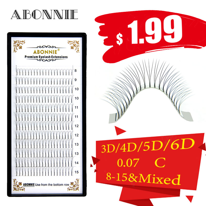 Abonnie Premade Fans Volume 8-15mm Lash Magetic  Russian Mink Eyelash Hot Sale Pre Made Lashes False Fake Eyelash Extension