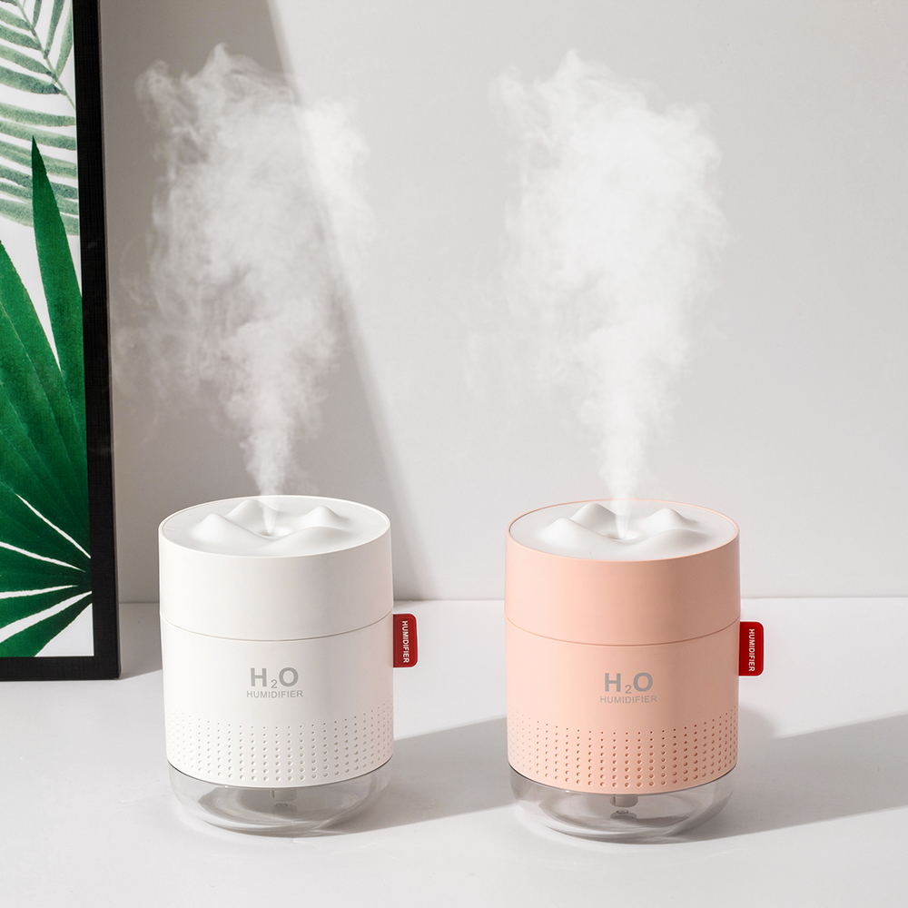 2019 New Snow Mountain Humidifier Aromatherapy 500ml Warm Night Light Essential Oil Diffuser Usb Air Aroma Diffuser For Home