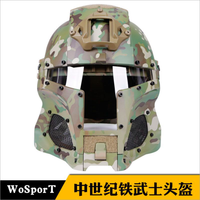 WoSporT Tactical Military Airsoft Paintball with PC Lens Full Covered Helmet Accessories for CS Wargame Shooting Helmet