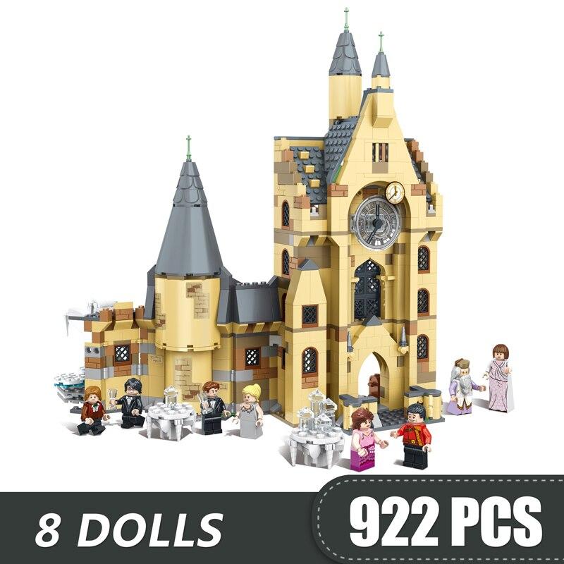 Nouveau magique Hogwart horloge tour Compatible Legoe Harri Potter château 75948 blocs de construction briques Kits jouets pour garçons enfants bricolage
