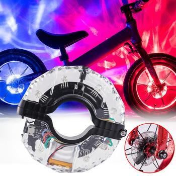 7 Colors and 18 Colors Dazzle Wheel Lights Children Balance Car Slide Car Small Drum Lamp USB Charging Waterproof Bike image