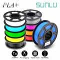 Sunlu 1.75mm pla mais filamento 1 kg dimensão precisão +/-0.02mm multi-cores para escolher (pla +) filamento da impressora 3d