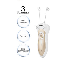Women Electric Epilator Body Facial Hair Removal Defeatherer Cotton Thread Depil