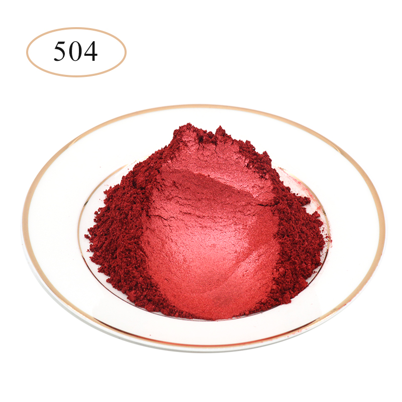 Pearl Powder Pigment  Type 504 Wine Red For Car Dye Colorant Soap Nail Car Arts Craft Acrylic Paint Mica Pearl Powder 10g/50g