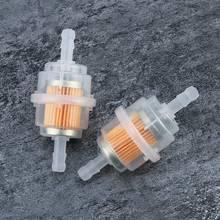 2 шт. Универсальный бензиновый встраиваемый топливный фильтр большая автомобильная часть подходит для 6 мм труб аксессуар для автомобиля запасные части автомобиля