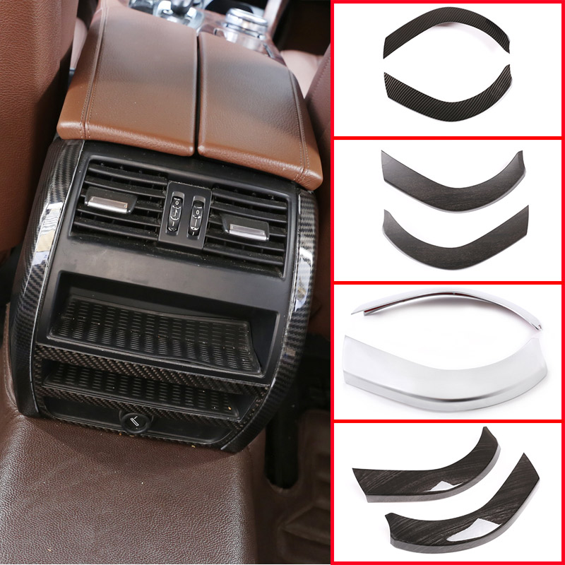 For BMW 5 Series F10 F18 528li 2011 -2016 4 Color ABS Carbon Fiber Car Rear Air Vent Side Decorative Trim  Interior Accessories