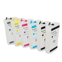 6-цветный многоразовый картридж с чипом, совместимый с H P 72 для H P 72 DesignJet T610 T770 T790T1100 T1120 T1200 T1300 T2300