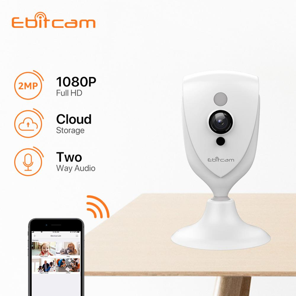 Ebitcam Cloud Computing Mini IP Wifi Kamera 1080p IP Kamera Wifi SD Karte Indoor Überwachung Kameras
